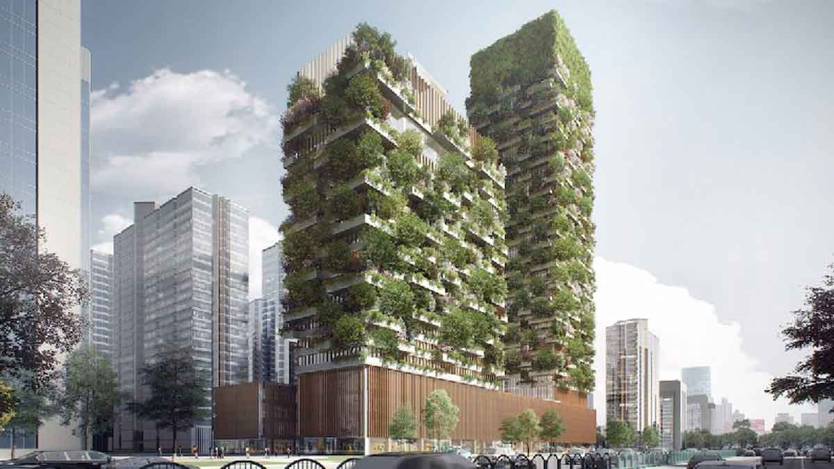 Natural air conditioning: plants on facades and on roofs