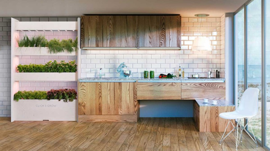 """Wall Farm Kitchen"" by Click & Grow Photo: © Click and Grow"