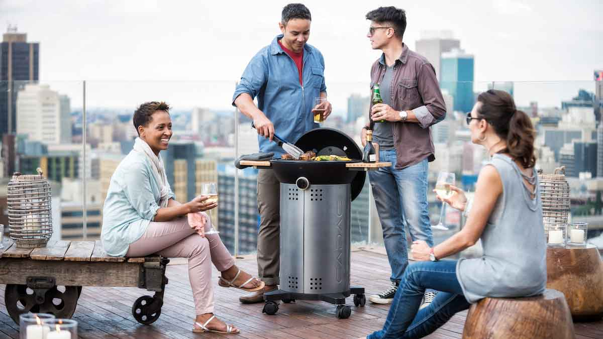 City Gardening: Barbeque on the balcony