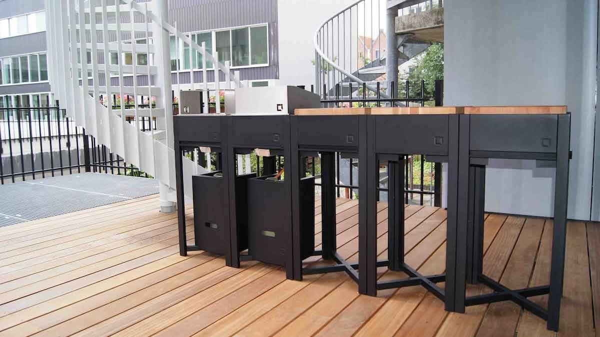 Modulare Outdoor-Küche von oneQ © oneQ
