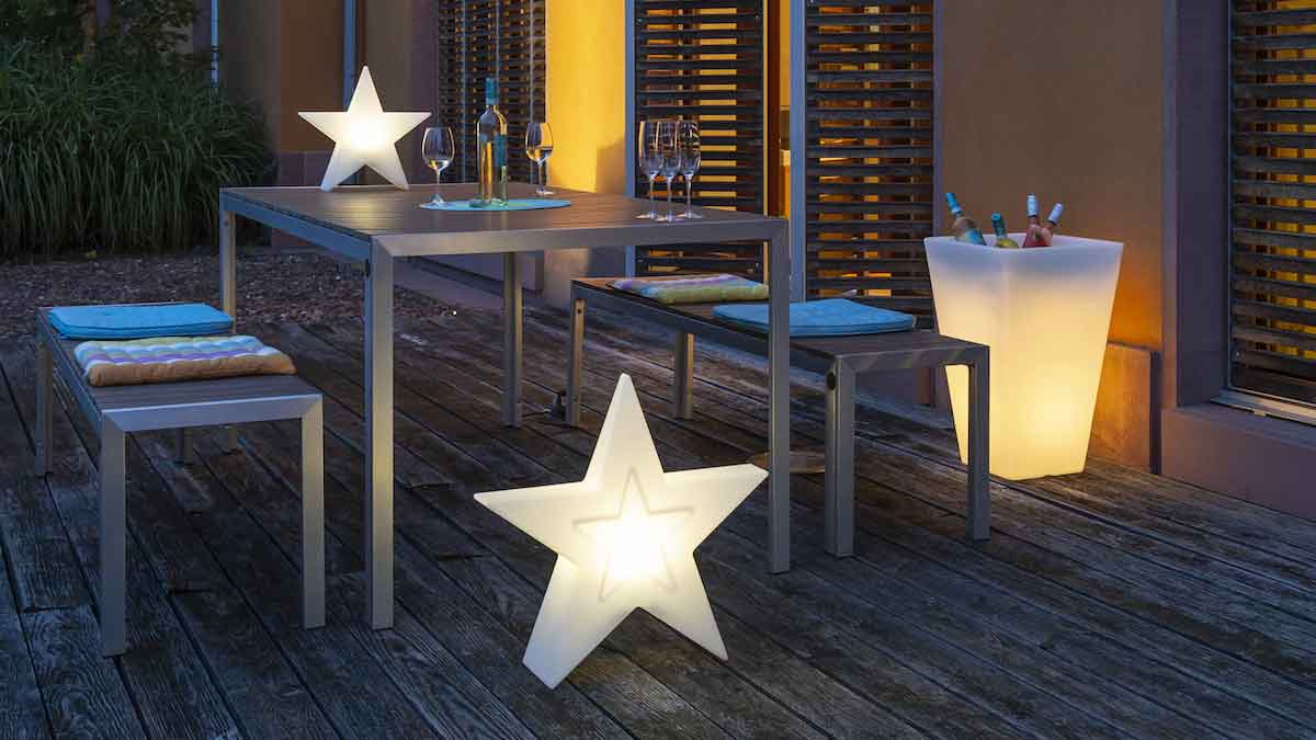 """Lumen Style"" is plant pot, beverage cooler and light in one © Scheurich GmbH & Co. KG"