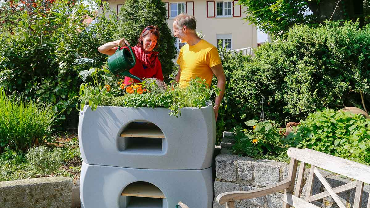 "Self-sufficient raised bed system ""Max and Moritz"" © GreenLife GmbH"