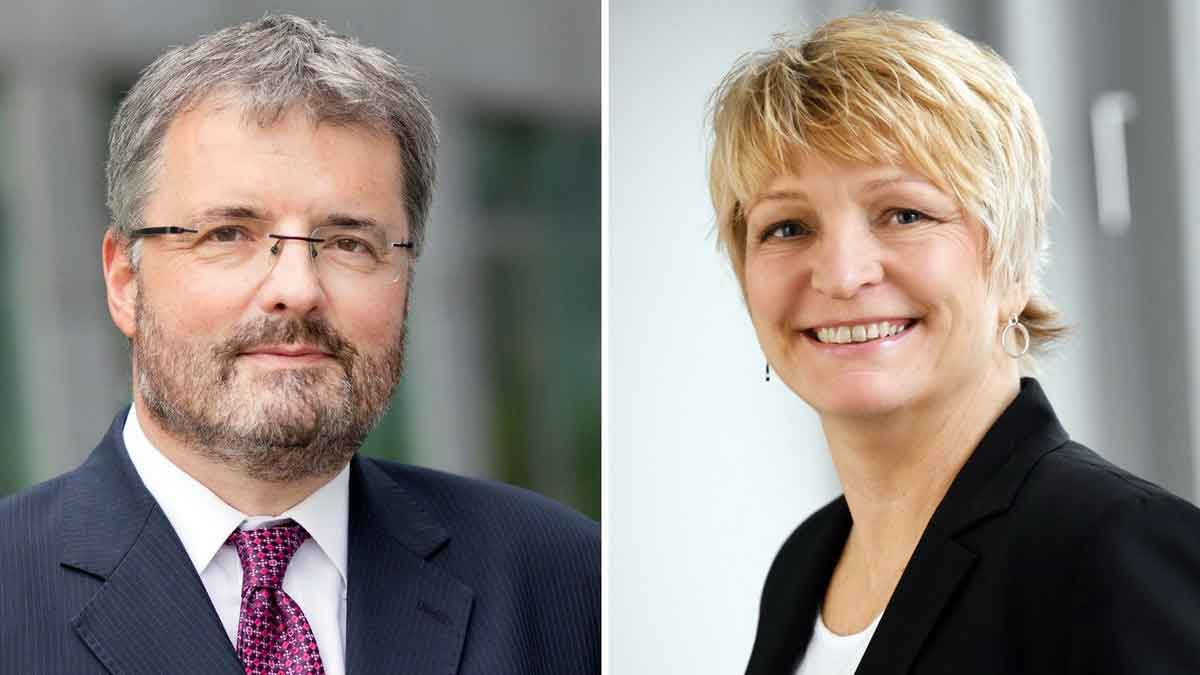 v.l.: Dr. Peter Wüst (BHB) und Heike Scholz (Zukunft des Einkaufens) – Foto: Werkfotos