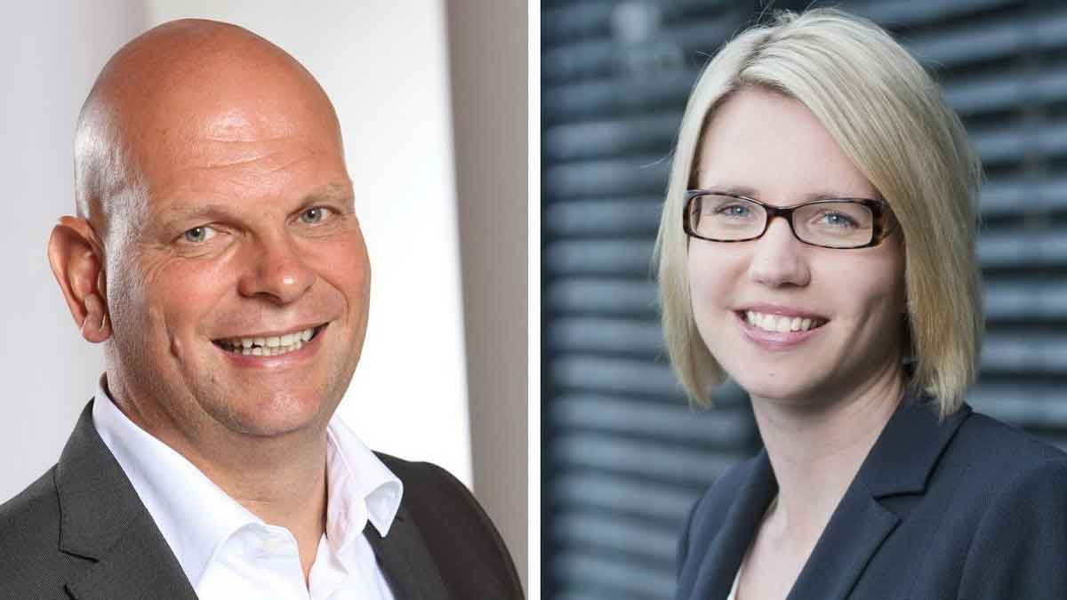 F.t.l.: Prof. Dr. Thomas Vogler (GermanRetailLab) and Dr. Eva Stüber (IFH Cologne) – Photo: TASPO