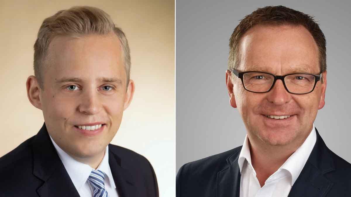 v.l.: Philipp Hoog (Dr. Wieselhuber & Partner) und Lutz Schnalke (LIDIS-Team) – Foto: Werkfotos