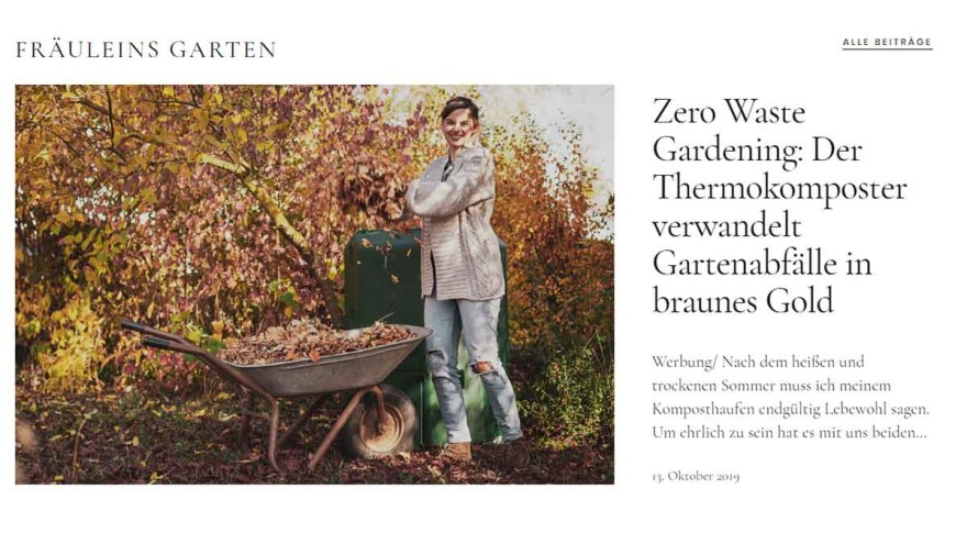 The blog is the most important platform for the Garten Fräulein.