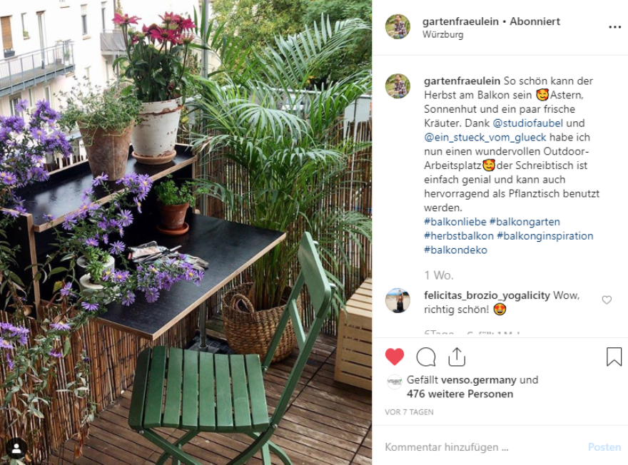For many users, Instagram is the best source of inspiration for green questions.