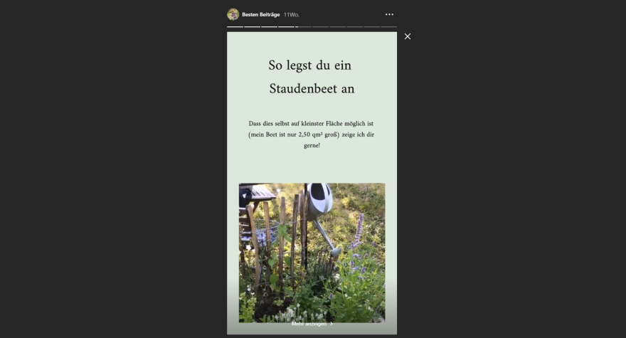 The Garten Fräulein offers her users many tips for successful gardening.