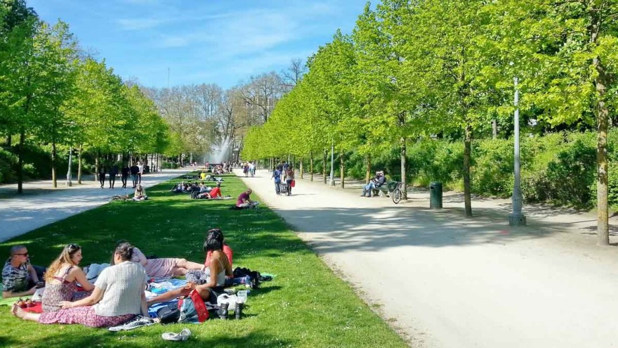It is especially apparent in nice weather: urban greenery has not only an ecological, but also a social value. – Photo: DGS