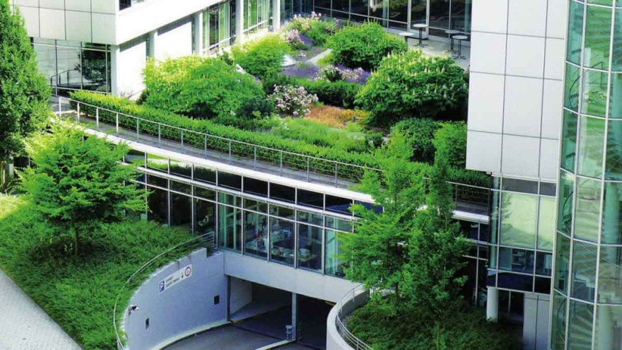 In the existing building stock, facade and roof greening can also contribute to a reduction of the temperature increase in the metropolises. – Photo: Zinco