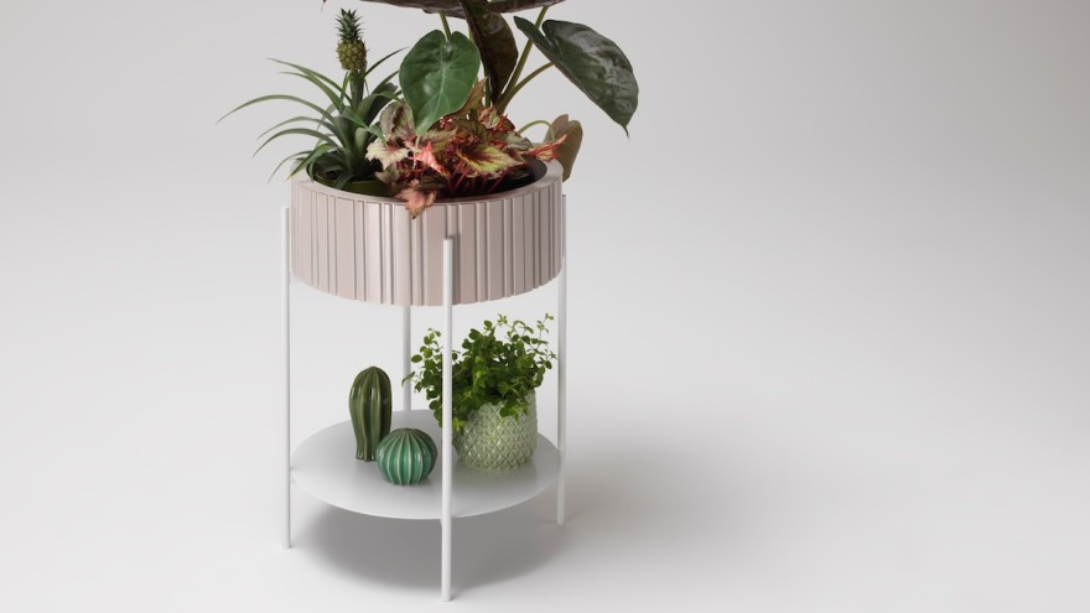 """Twist"" planter for the living room © müller Möbelwerkstätten"