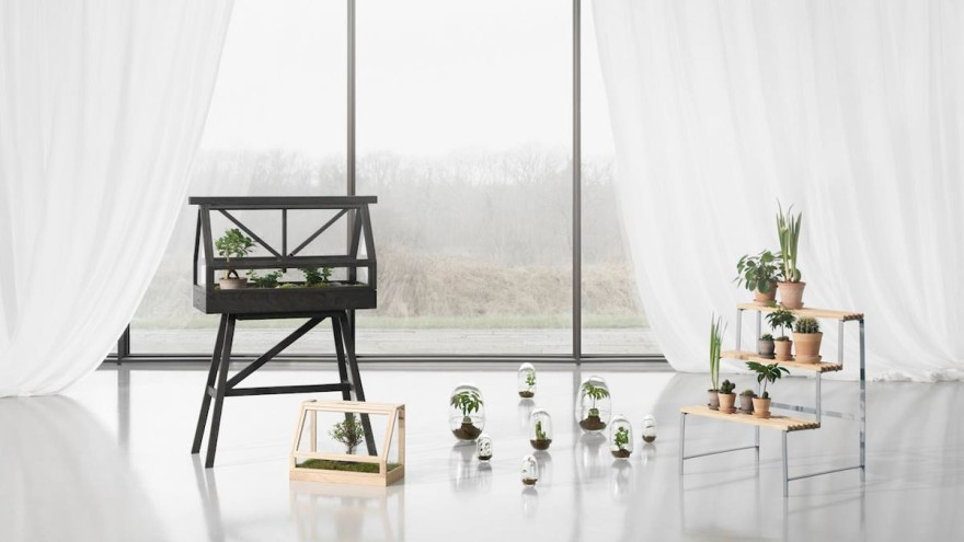 Greenhouses and flower pot stand © Design House Stockholm