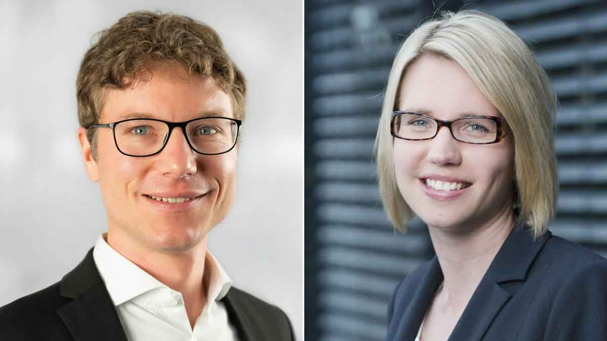 from the left: Dr. Sebastian Klöß (Bitkom) and Dr. Eva Stüber (IFH Cologne) – Photo: Werkfotos