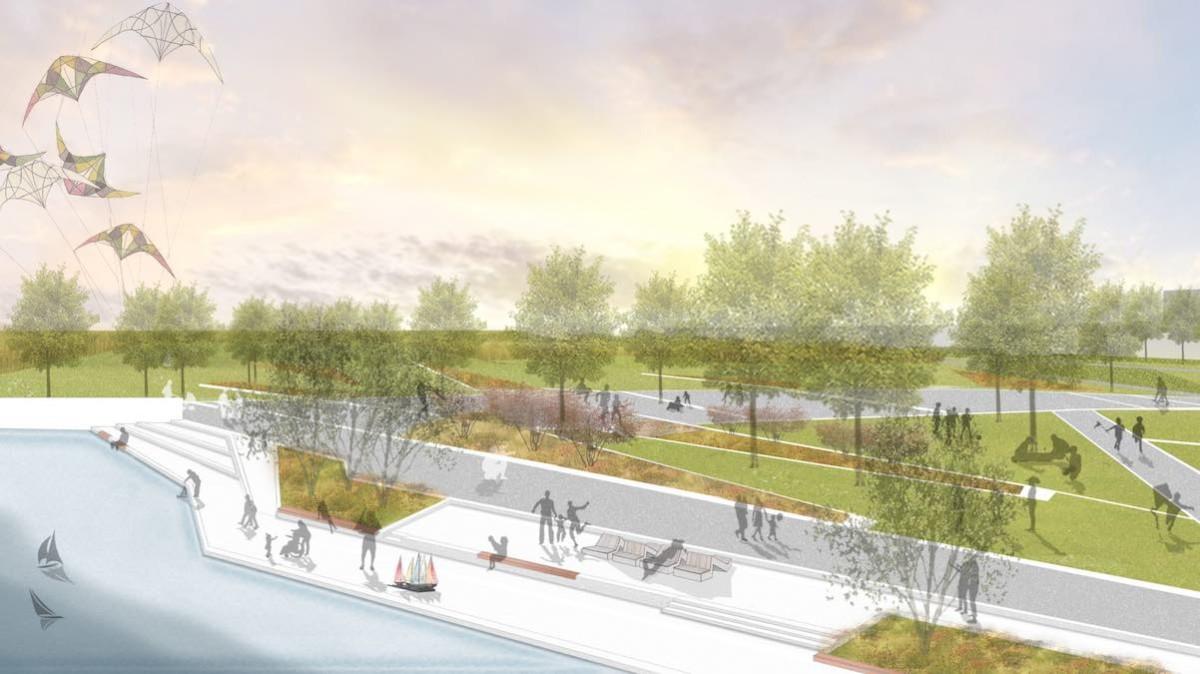 Landesgartenschau Ingolstadt 2020: Parkterrasse, © Därr Landschaftsarchitekten