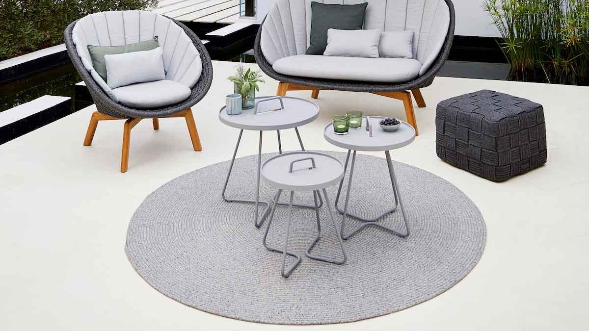 "Outdoor carpet ""Spot"" by Cane-line © Cane-line"