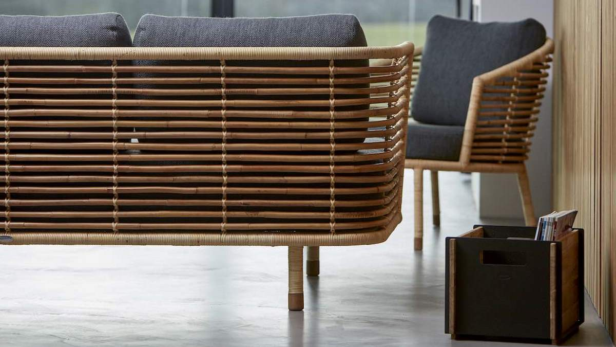 Rattan as a natural material also for indoor use: Sense collection from Cane-line © Cane-line