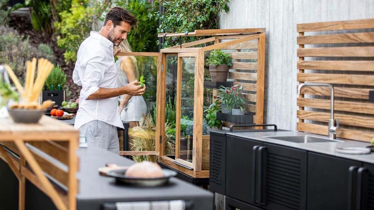 Gewächshaus für Outdoor-Küche von Cane-line © Cane-line