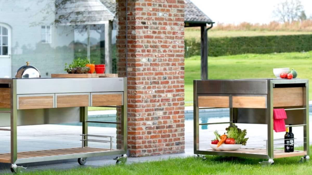 Mobile kitchen trolleys from Indu+ © Indu+
