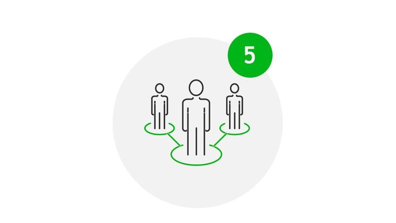 Meet Safe Icon Ausreichend Platz im Eingangs- und Wartebereich