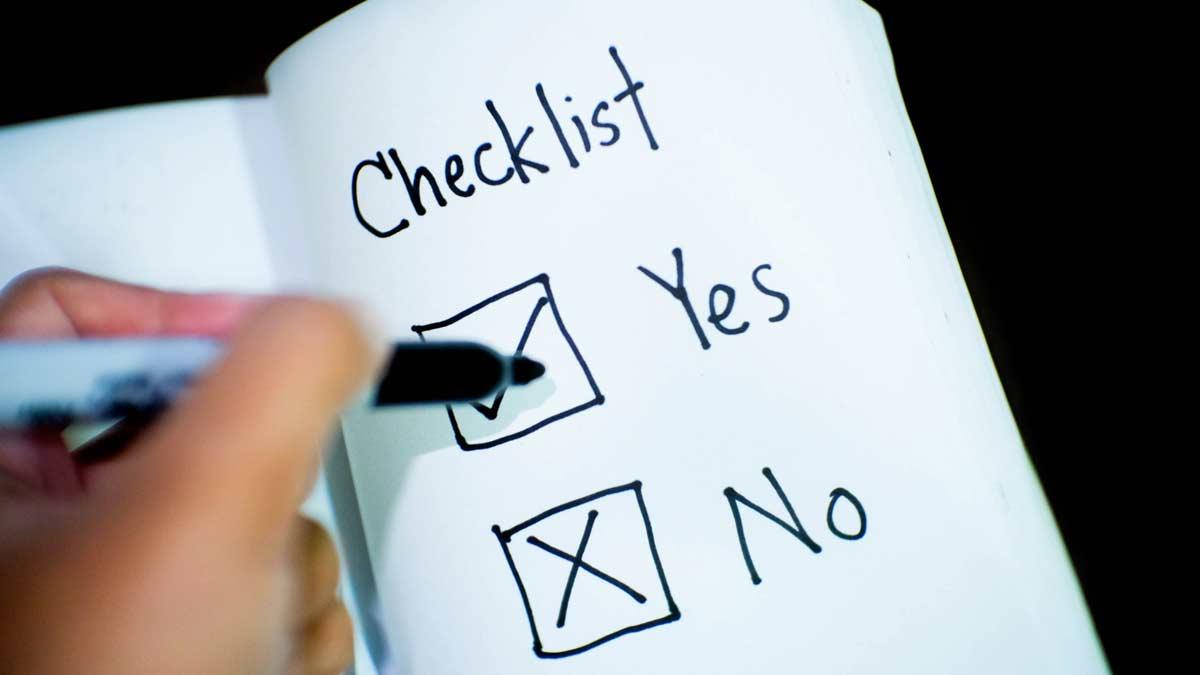 Checklist for exhibitors