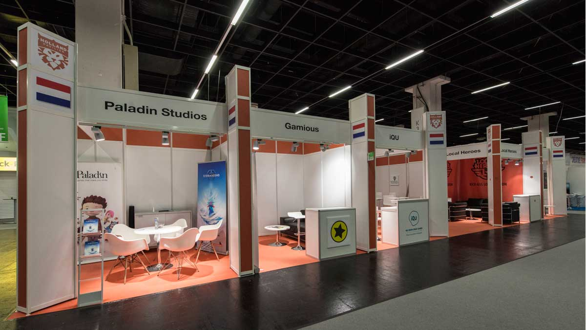 Group stand type A: Stand construction with modern colour concept at reasonable costs.